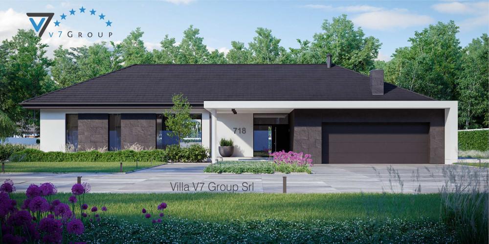 Immagine Villa V717 (progetto originale) - vista frontale Villa V718