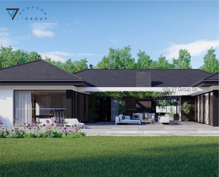 Immagine Villa V718 (progetto originale) - vista giardino