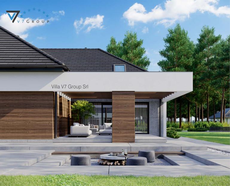 Immagine Villa V26 - variante 10 - il terrazzo esterno