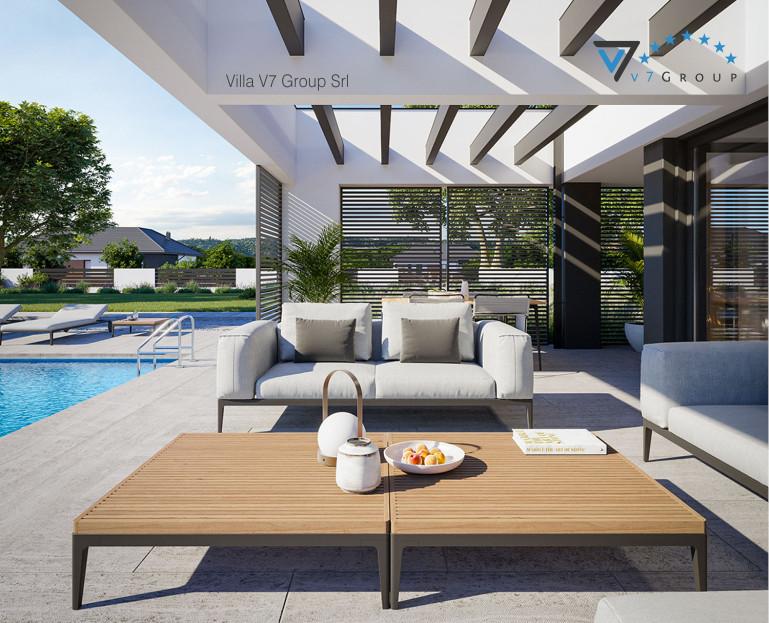 Immagine Villa V707 (progetto originale) - vista terrazzo esterno