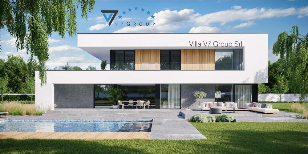 Immagine Villa V721 (progetto originale) - vista frontale Villa V727