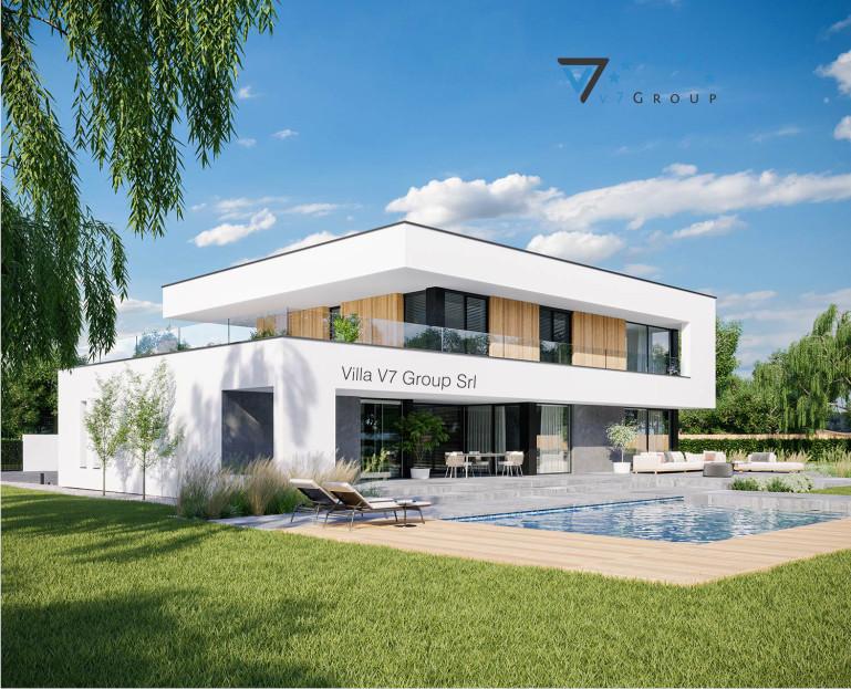 Immagine Villa V727 (progetto originale) - vista piscina