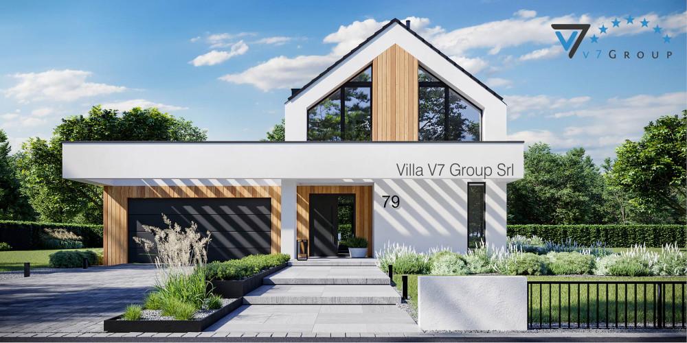 Immagine Villa V78 (progetto originale) - vista frontale Villa V79