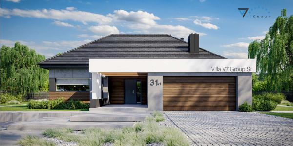 Immagine Ville di V7 Group Srl - la vista frontale di Villa V31 - Variante 1