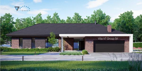 Immagine Ville di V7 Group Srl - la vista frontale di Villa V718 - Variante 1