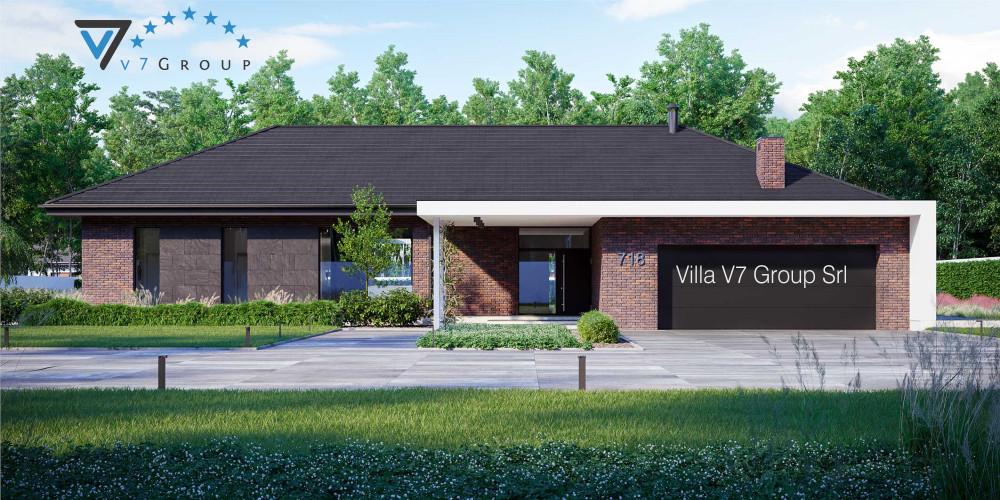 Immagine Villa V718 - vista frontale di Villa V718 - Variante 1