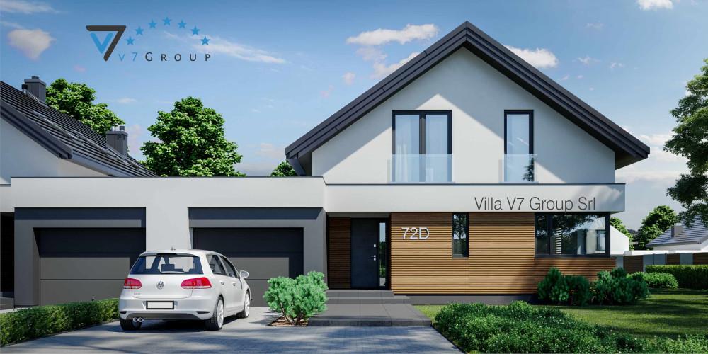 Immagine link Villa V72 (progetto originale) - vista frontale di Villa V72 D