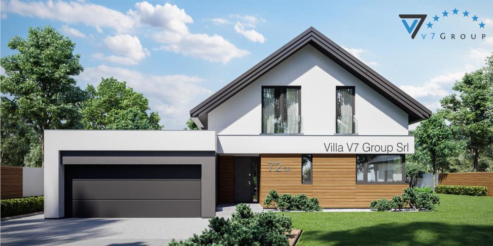 Immagine link Villa V72 (progetto originale) - vista frontale di Villa V72 G2