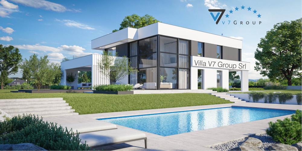 Immagine link Villa V86 (progetto originale) - vista giardino di Villa V83