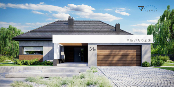 Immagine Ville di V7 Group Srl - la vista frontale di Villa V31 - Variante 3