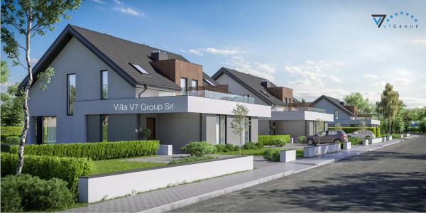 Immagine Ville di V7 Group Srl - la vista frontale di Villa V31 - Variante 2