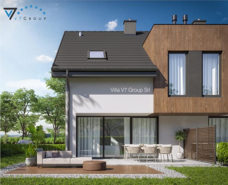 Immagine Villa V61 B - Variante 1 - la parte del giardino ingrandita