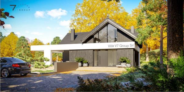 Immagine Ville di V7 Group Srl - la vista frontale di Villa V67 - Variante 1
