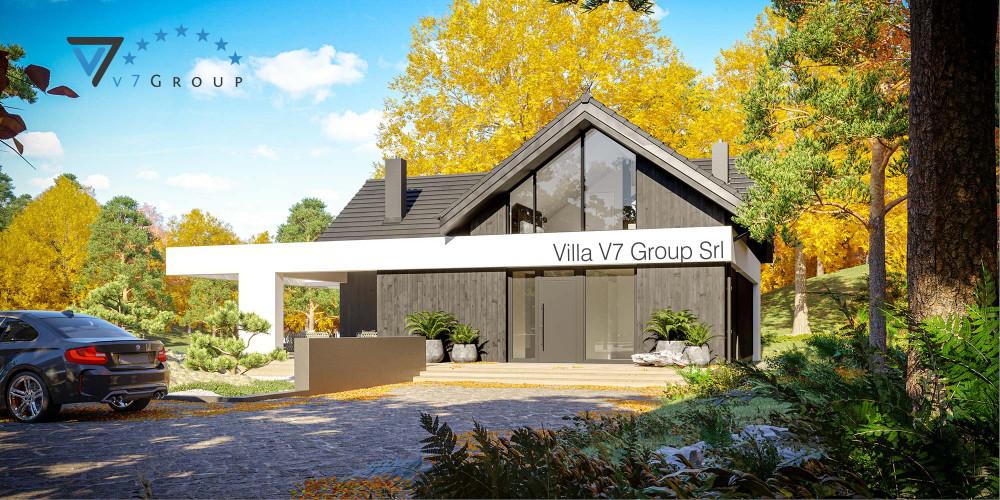 Immagine link Villa V67 (progetto originale) - vista frontale della Villa V67 - Variante 1V66