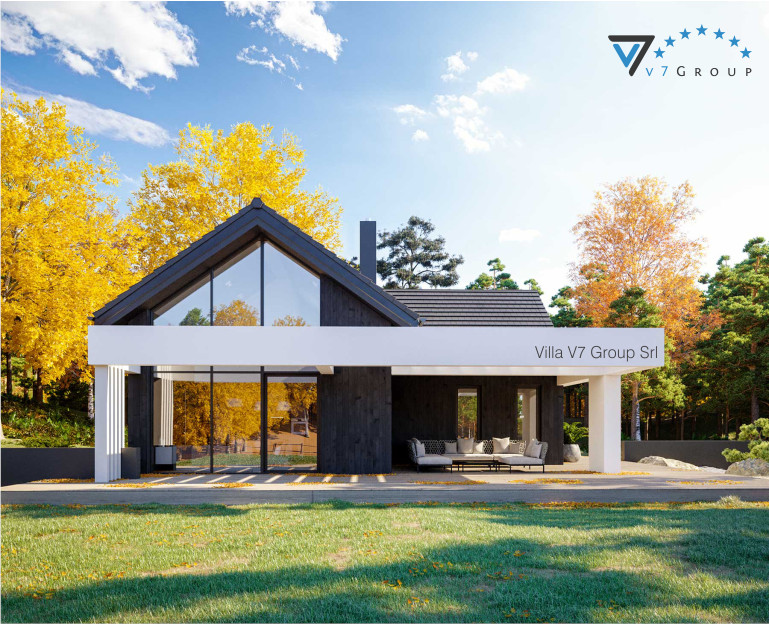 Immagine Villa V67 - Variante 1 - vista giardino in dettaglio