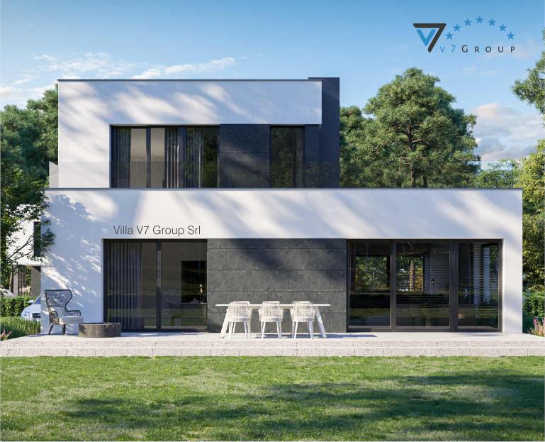 Immagine Villa V82 (progetto originale) - vista giardino