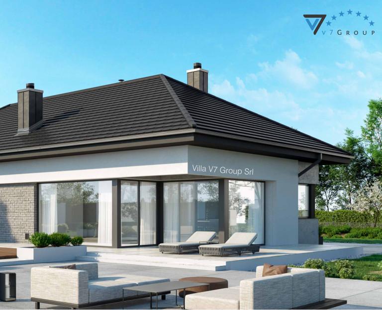 Immagine Villa V38 (progetto originale) - il terrazzo esterno ingrandito