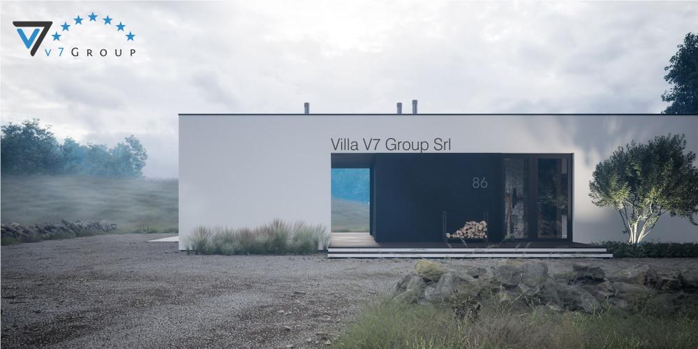 Immagine Villa V83 (progetto originale) - vista frontale Villa V86
