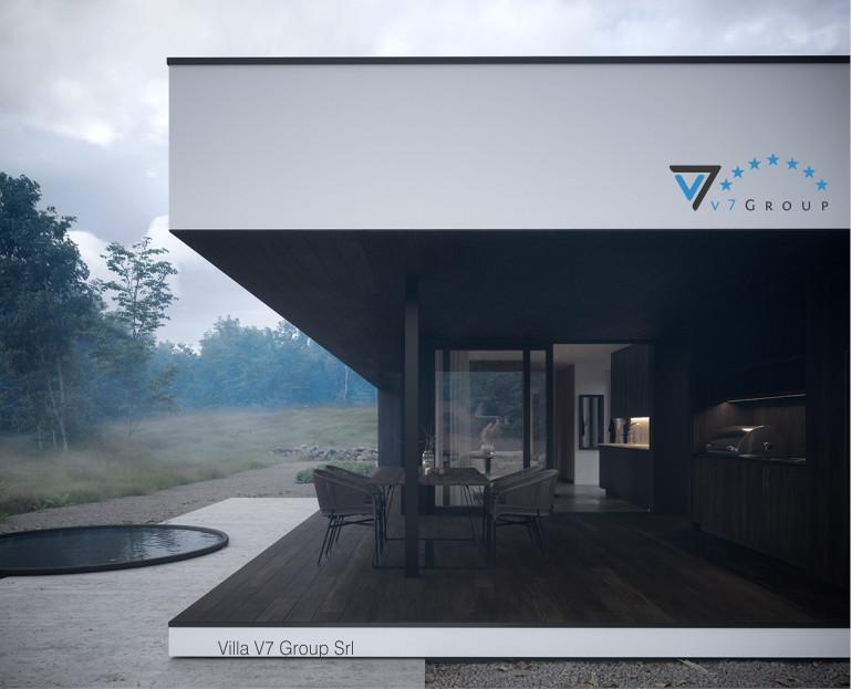 Immagine Villa V86 (progetto originale) - vista giardino