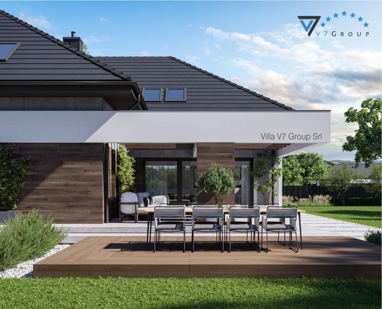 Immagine Villa V28 - Variante 2 - vista terrazzo esterno