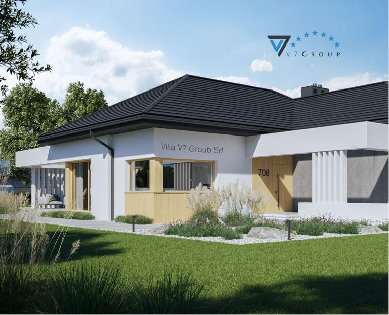 Immagine Villa V708 (progetto originale) - vista entrata