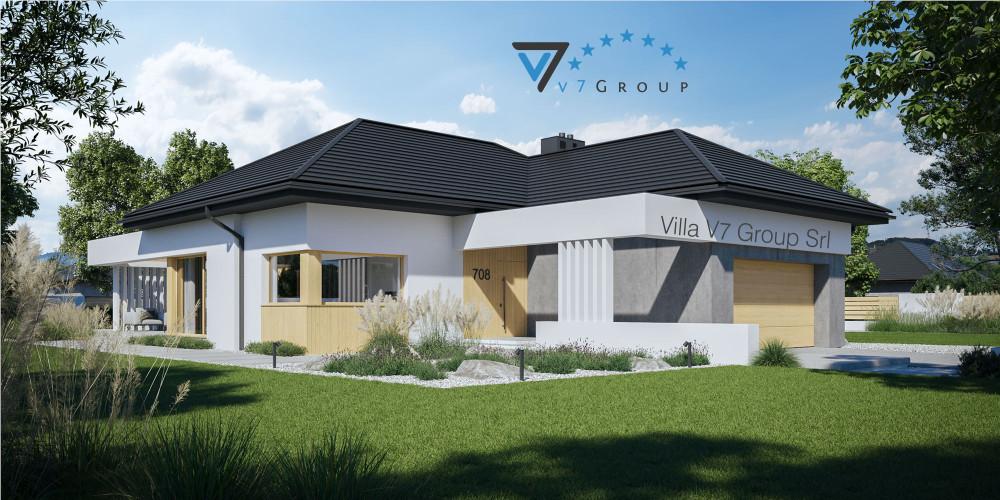 Immagine link Villa V709 (progetto originale) - vista frontale di Villa V708