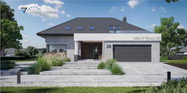 Immagine Ville di V7 Group Srl - la vista frontale di Villa V28 - Variante 1