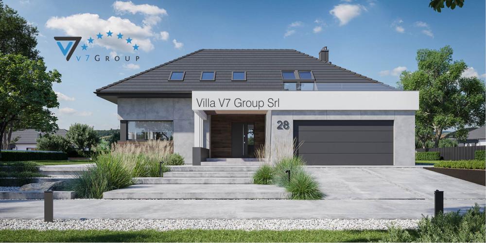 Immagine Villa V28 - Variante 1 - vista frontale Villa V28 - Variante 2