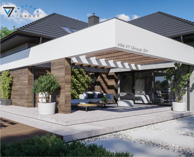Immagine Villa V28 - Variante 1 - vista terrazzo esterno