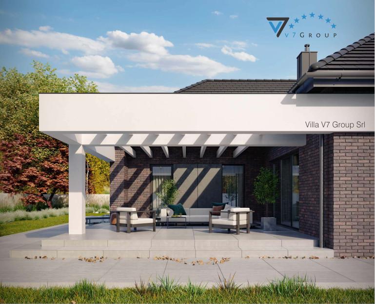 Immagine Villa V32 (progetto originale) - il terrazzo esterno ingrandito