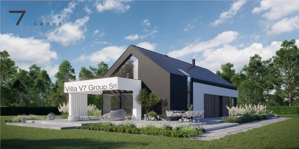 Immagine link Villa V82 (progetto originale) - vista giardino di Villa V81