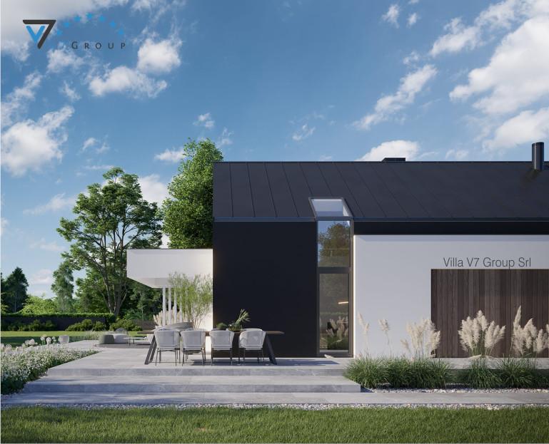 Immagine Villa V81 (progetto originale) - vista giardino
