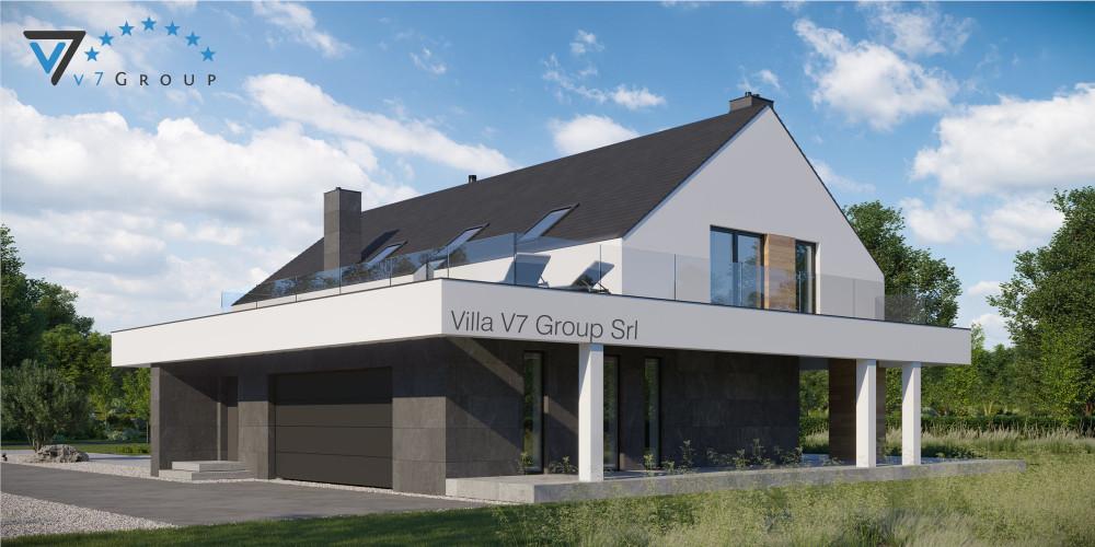 Immagine Villa V707 (progetto originale) - vista frontale Villa V706