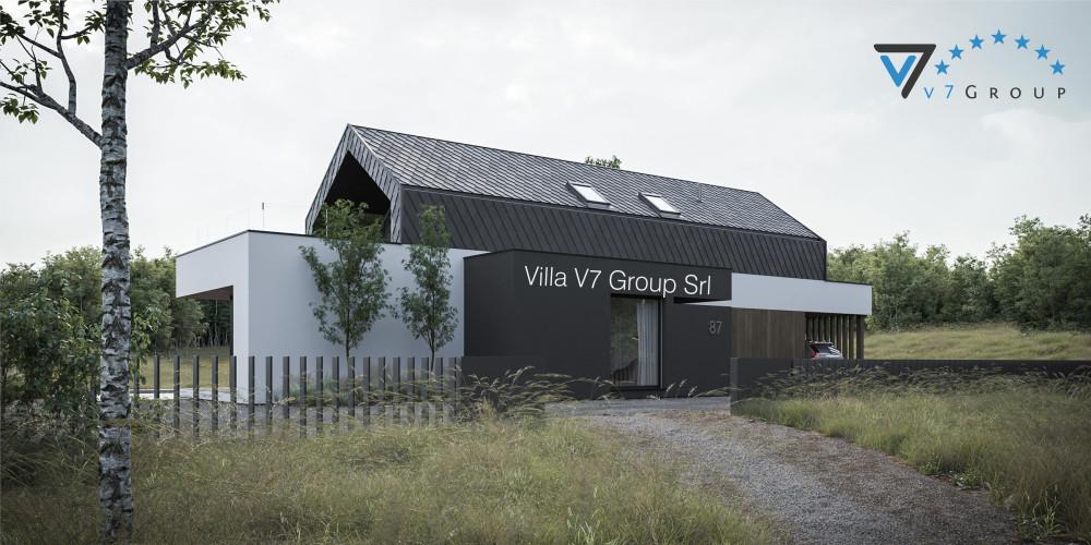 Immagine Villa V86 (progetto originale) - vista frontale di Villa V87