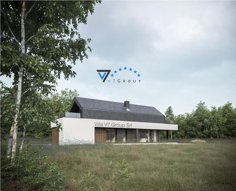Immagine Villa V87 (progetto originale) - vista giardino