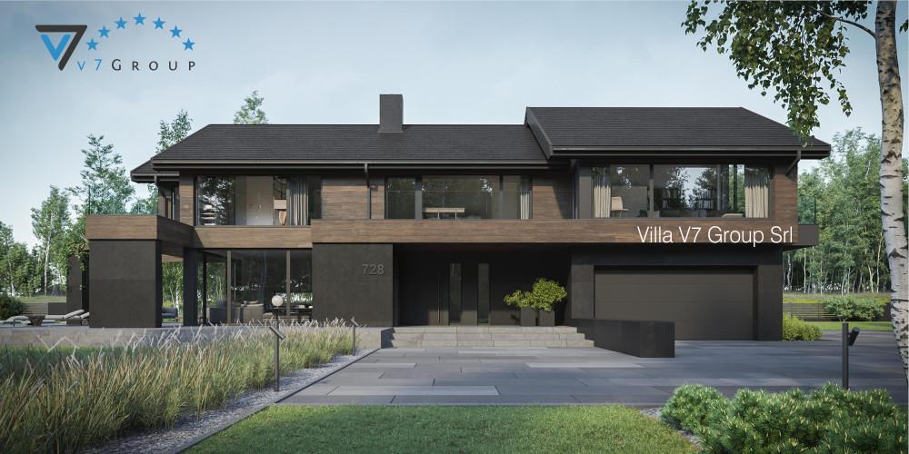 Immagine Villa NH V717 (progetto originale) - vista frontale Villa NH V718