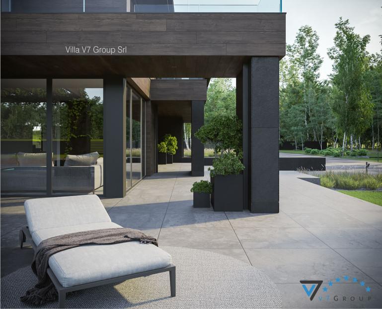 Immagine Villa V728 (progetto originale) - vista terrazzo esterno