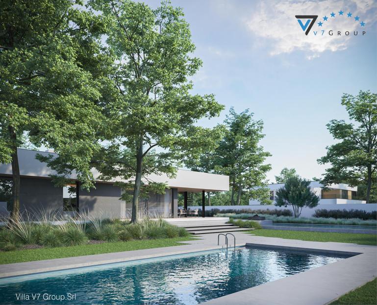 Immagine Villa V88 (progetto originale) - vista giardino