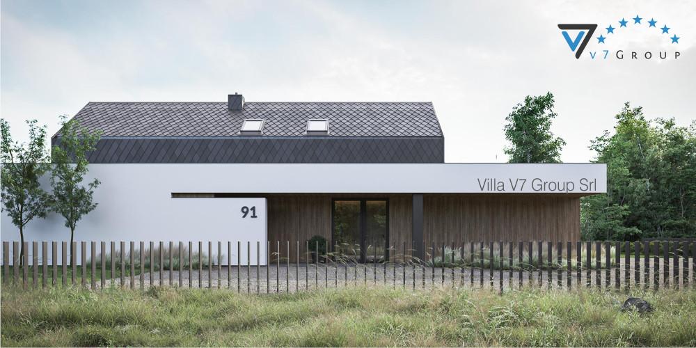 Immagine link Villa V90 (progetto originale) - vista frontale di Villa V91